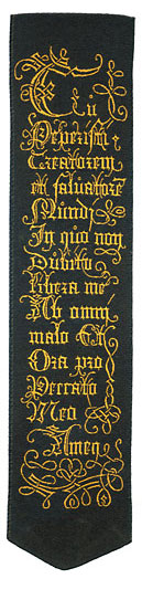 Ave Maria bookmark verso