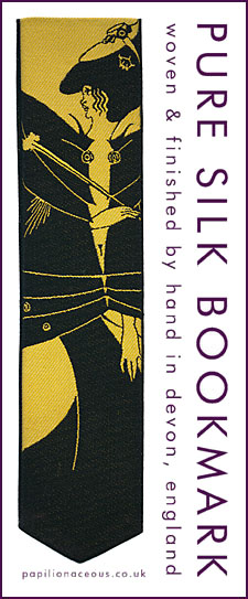 Beardsley Black Cape bookmark