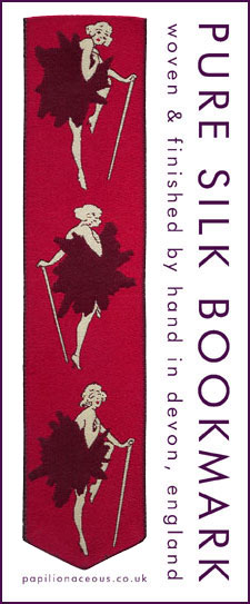 red chorus line bookmark