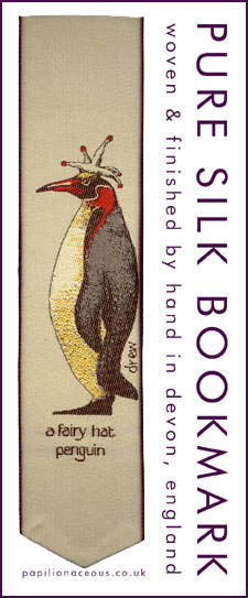 fairy hat penguin bookmark