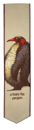 hairy fat penguin bookmark