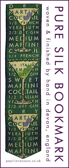green martini bookmark