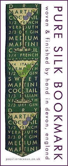 green martini bookmark