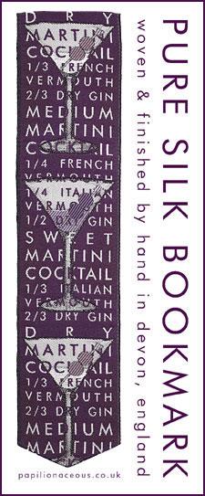 royal purple martini bookmark