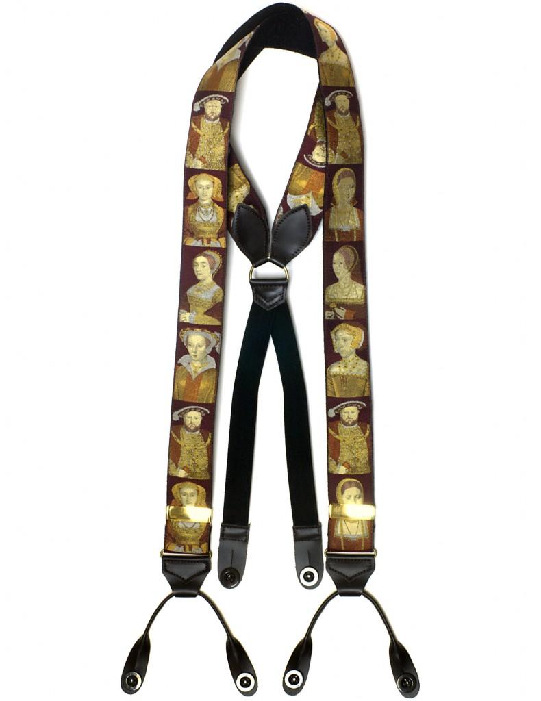 2221 Henry VIII Albert Thurston silk braces
