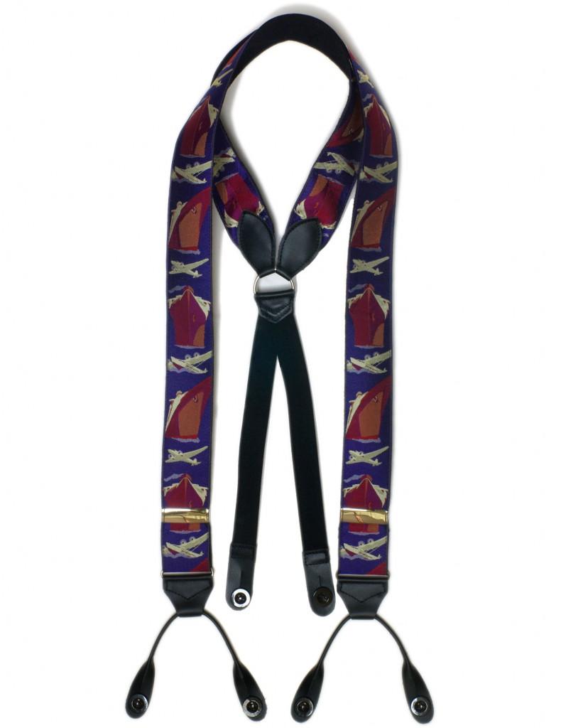 2250 Planes & Boats Albert Thurston silk braces