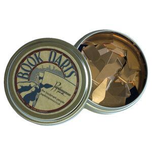 tin of bronze book darts