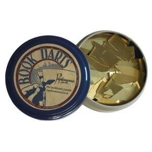 tin of brass book darts