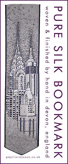 New York silk bookmark
