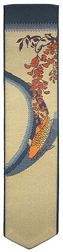 Papilionaceous jacquard silk bookmark