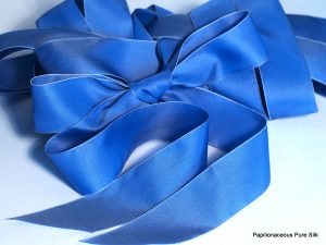 blue satin sashe silk ribbon