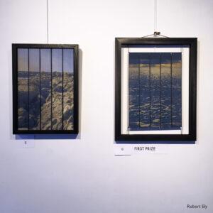 Into the Sea & Interludes II, Woven silk panels at The Flavel Arts Centre, Dartmouth