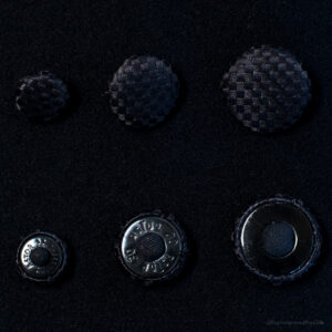 black silk basketweave buttons