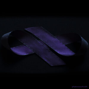 Charming Royal Purple Silk Ribbon