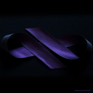 Flora Royal Purple Silk Ribbon