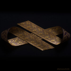 Acorn Silk Ribbon Wheat/Purple