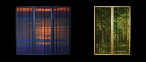 Silk panels, designed and woven by Robert Ely