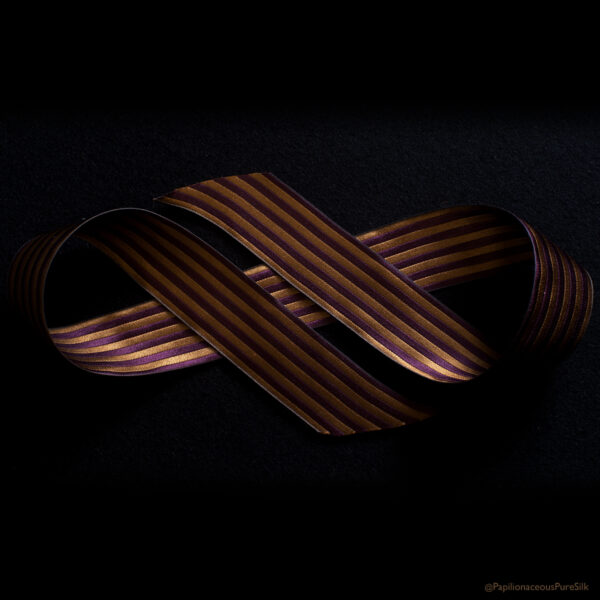 reversible ribbon honey/plum