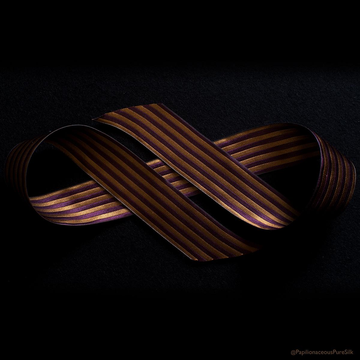 reversible ribbon honey/plum