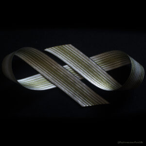 Ombre Stripe Silk Ribbon Greenery/Natural