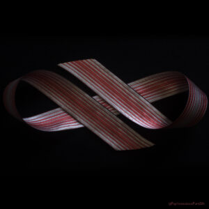 Ombre Stripe Silk Ribbon Rose/Natural