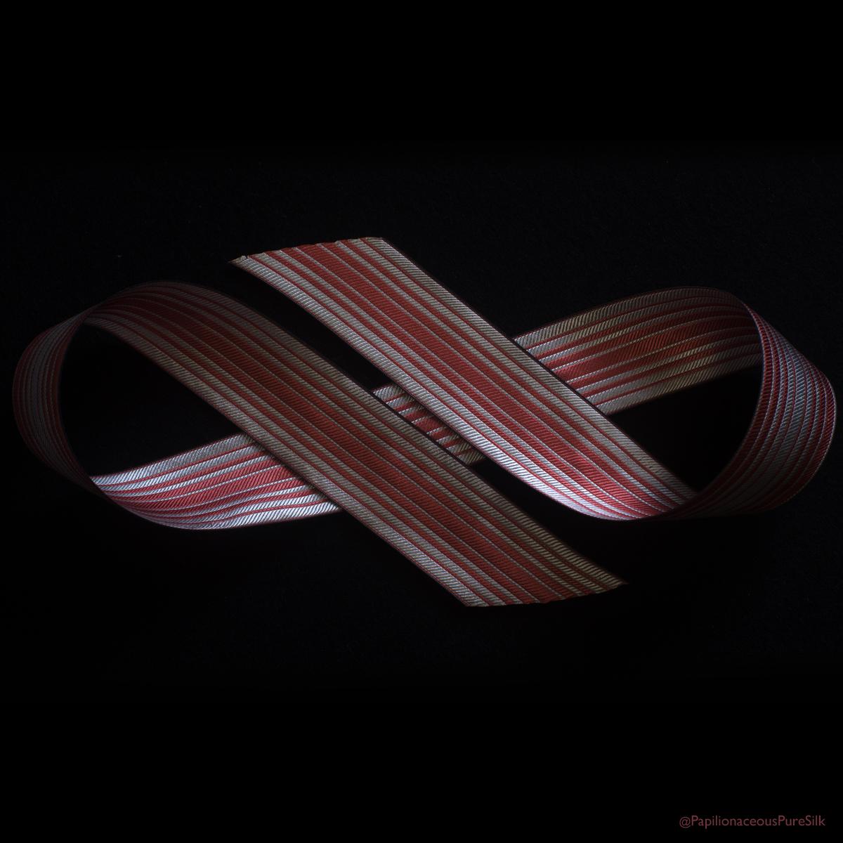 Ombre Stripe Silk Ribbon Rose/Natural