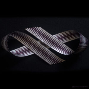 Ombre Stripe Silk Ribbon Royal/Natural
