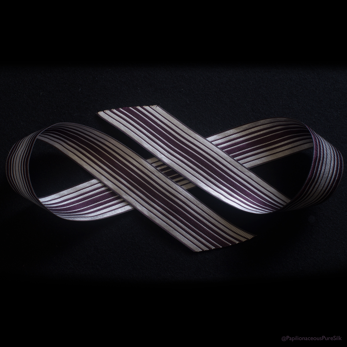Ombre Stripe Silk Ribbon Royal/Natural
