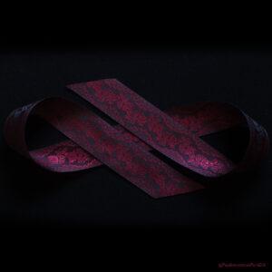 Poldark silk ribbon in red silk