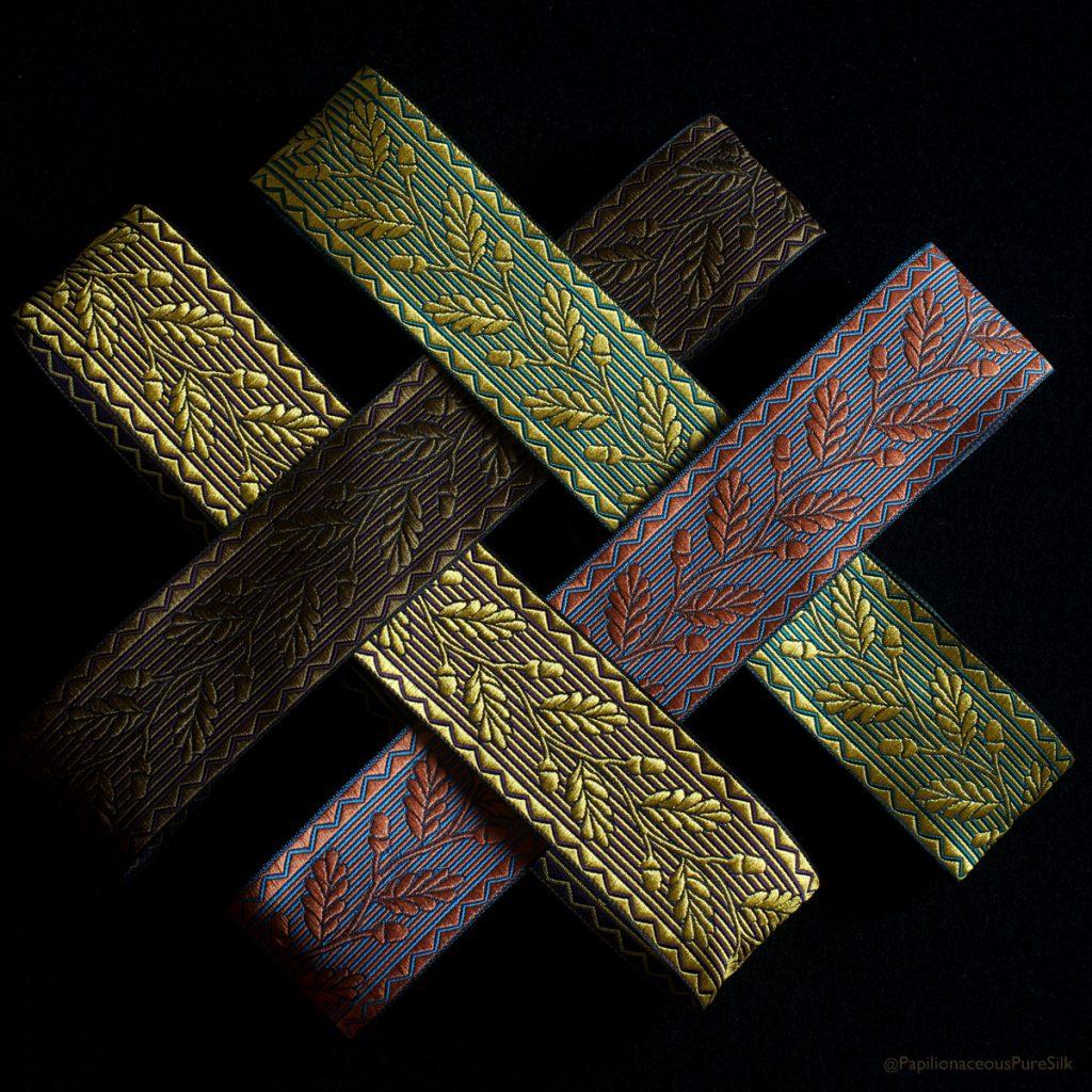 custom design acorn silk ribbon
