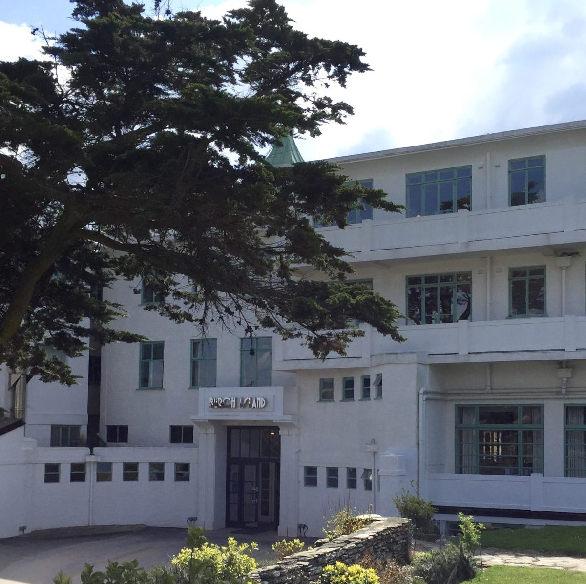 Burgh island hotel papilionaceous jacquard silk ribbon for Art deco hotel devon