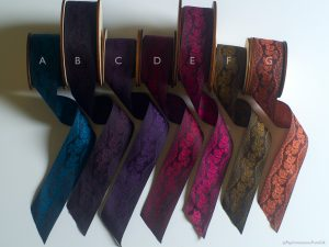 Poldark ribbons, black warp seen at The West Country Quilt Show
