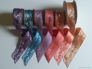 Poldark ribbons, white warp
