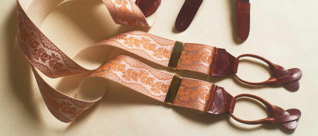 Ross Poldark Copper colour braces made by Albert Thurston from Papilionaceous Silk