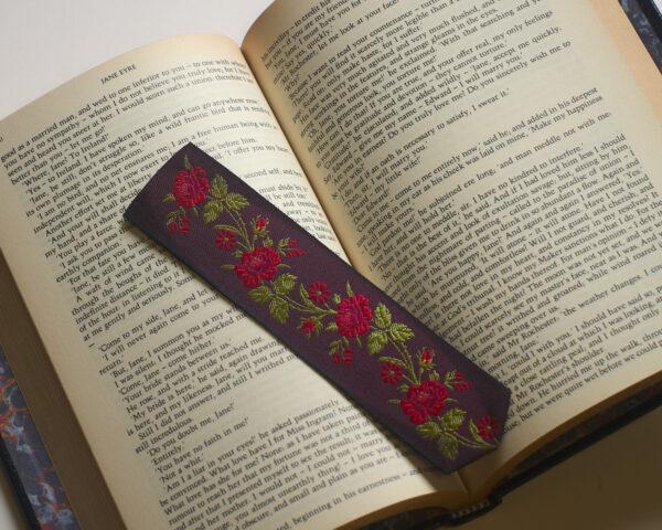 Jacquard silk bookmark