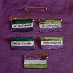 Votes for Women pin badge