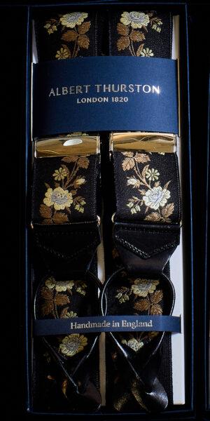 Amy silk braces made by Albert Thurston