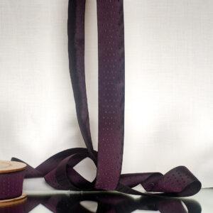 Victoria damson silk ribbon