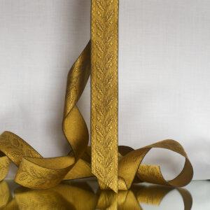 Acorn silk ribbon, wheat