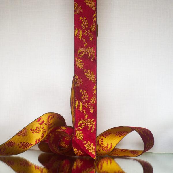 James Leman Crimson silk ribbon