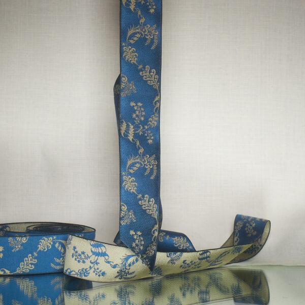 James Leman Cerulean silk ribbon