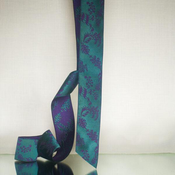 James Leman Malachite silk ribbon