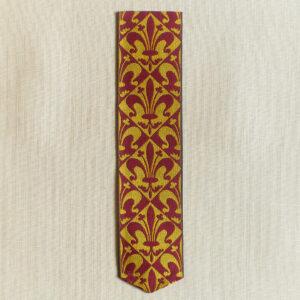 Fleur de lis Jacquard Woven Silk Bookmark