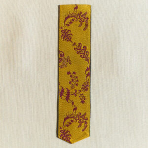 Leman silk bookmark saffron