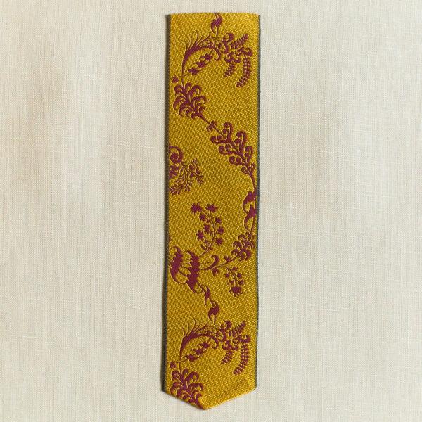 Leman silk bookmark saffron