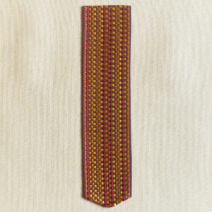 Basket weave Silk Bookmark, orange