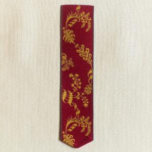 Leman silk bookmark crimson