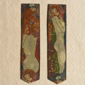 Klimt Water Serpents Silk Bookmark