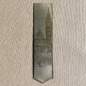London landmark silk bookmark